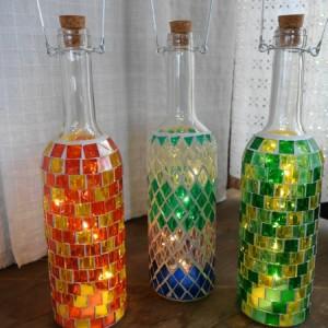 モザイクボトルLEDライト